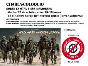Cartel Charla anti OTAN 27 oct
