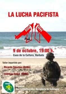 Taller Red Antimilitarista y Noviolenta de Andalucía RANA 9 de octubre